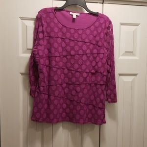 Dana Buchanan Purple Shirt